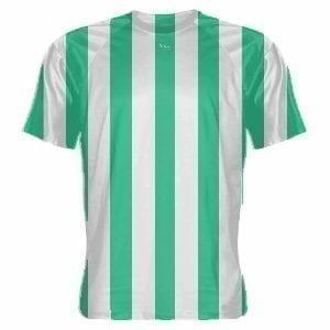 LightningWear-Teal-and-White-Soccer-Jerseys-Stripe-Soccer-Shirts-B078NGNTGP