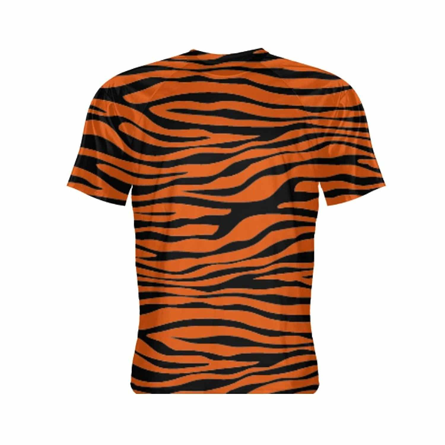 c4931ceff Tiger Print Short Sleeve Shirt - Tiger Striped Shirt - Shirt With Tiger  Print