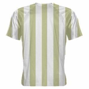 LightningWear Vegas Gold and White Striped Soccer Jerseys