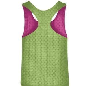 LightningWear Womens Blank Pinnies Neon Green Hot Pink - Girls Pinnies