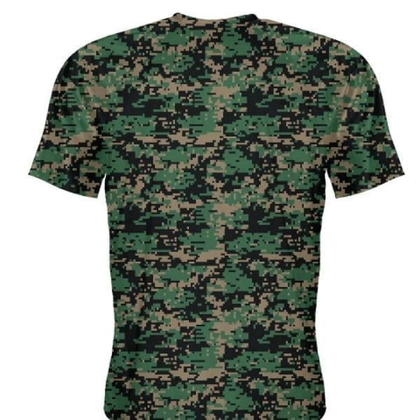 Military camouflage shirt short sleeve digital camo t shirts for Camouflage t shirt design