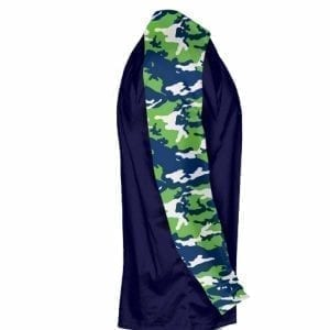 Neon Green Navy Blue Long Sleeve Camouflage Shirts - Youth Camouflage Shirts - Adult Camo Shirts