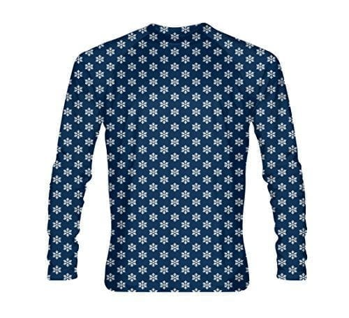 Snowflake-Long-Sleeve-Shirt-Holiday-Long-Sleeve-Shirts-Navy-Blue-AL-B0771TLZJF