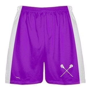 LightningWear Purple Lacrosse Short - Adult and Youth Solid Lacrosse Shorts - Athletic Practice Shorts