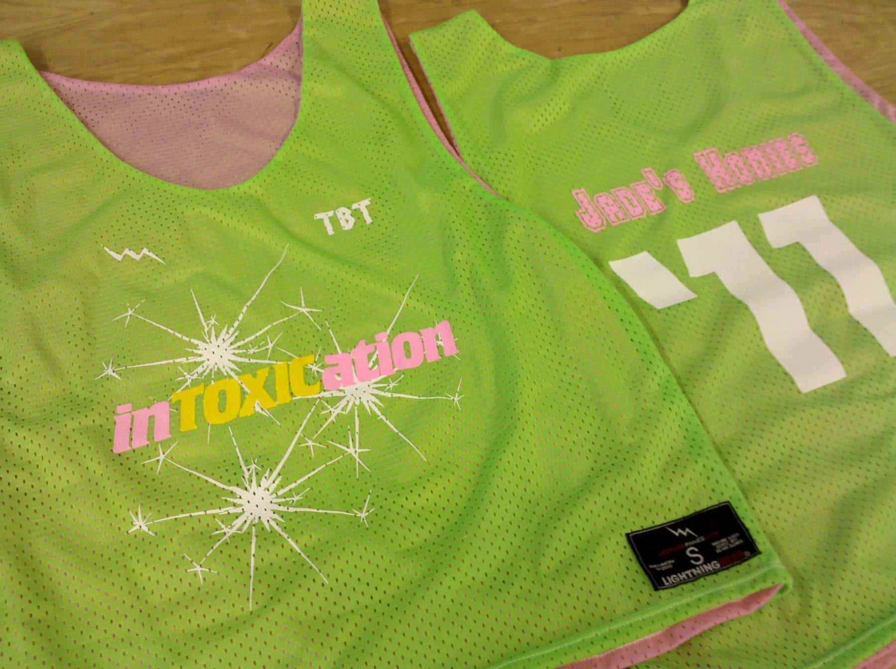 intoxication pinnies