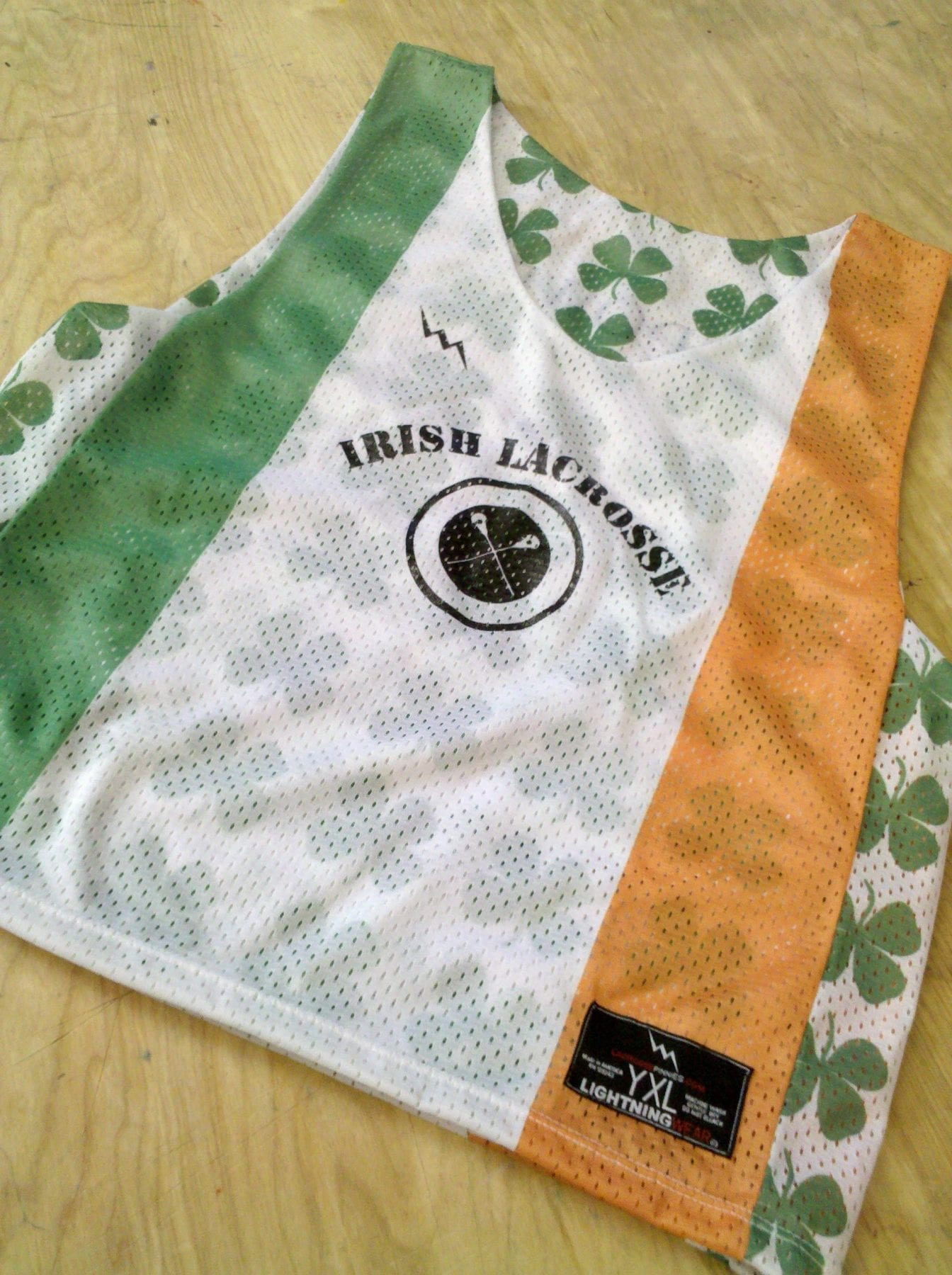 irish lacrosse pinnies