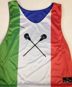 italian flag lacrosse pinnies