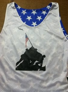 iwo jima memorial pinnies