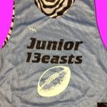 Zebra Powder Puff Pinnies