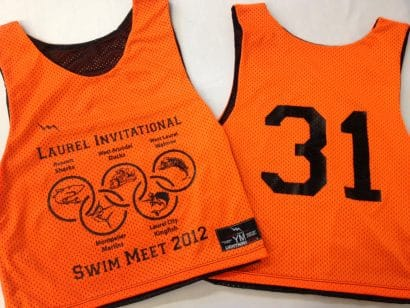 laurel invitations swim pinnies