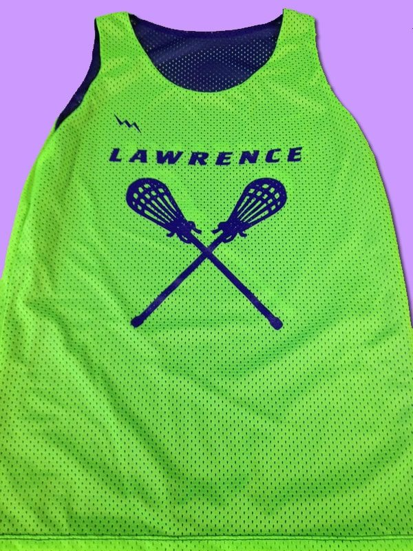 lawrence girls lacrosse pinnies