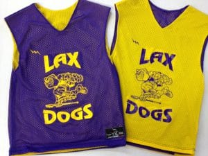lax dogs pinnies