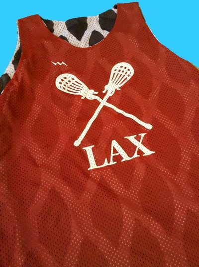 lax mesh print pinnies