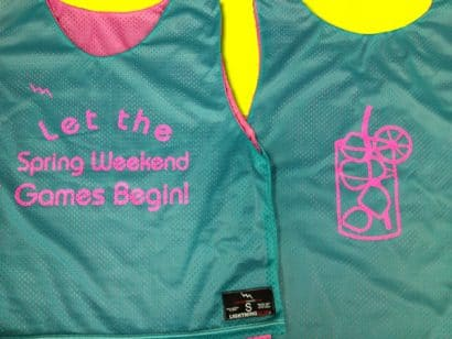 let the spring weekend games begin pinnies