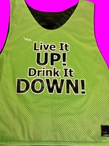 Neon Green Black Lacrosse Pinnies