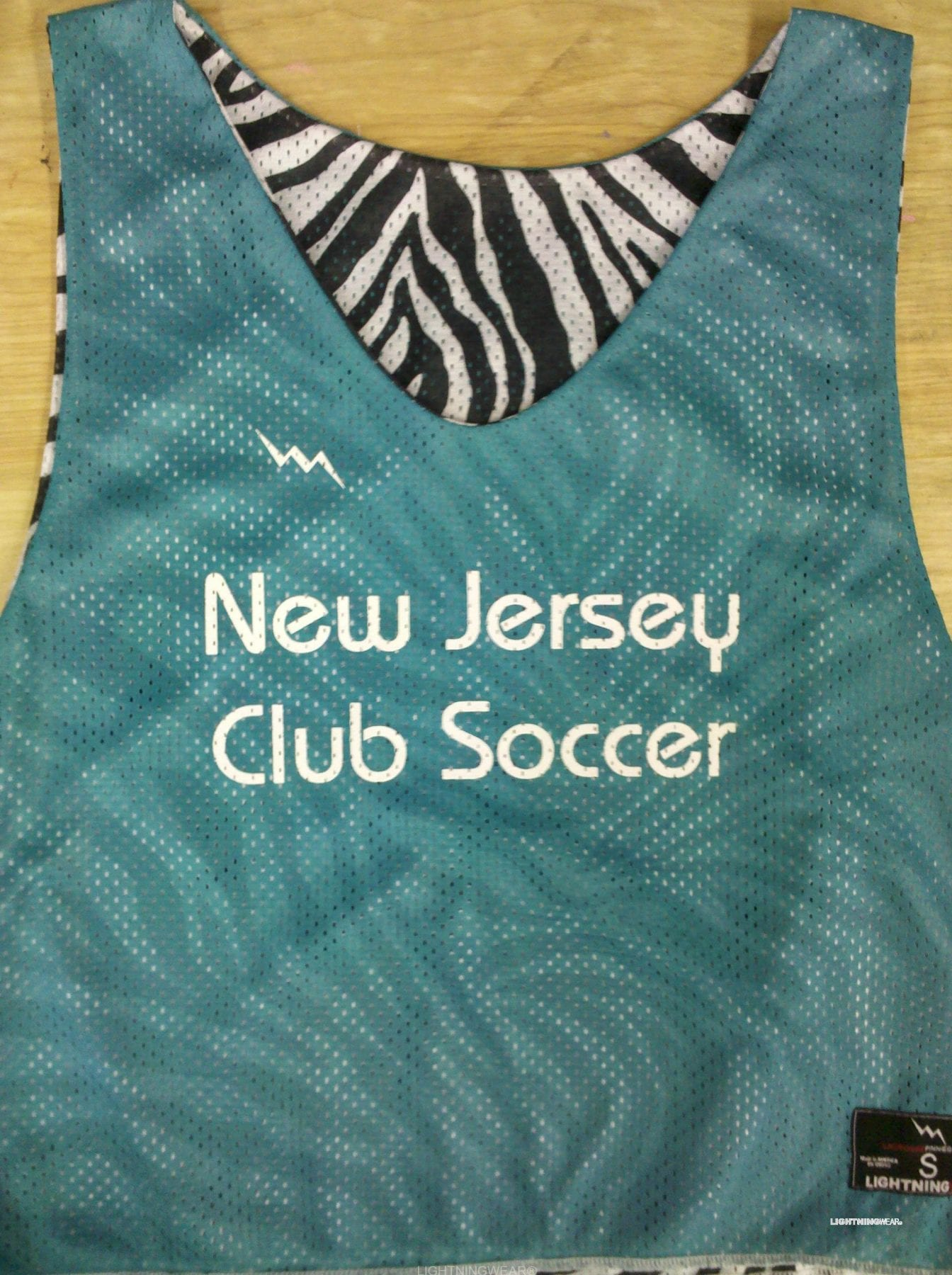 new jersey club soccer pinnies