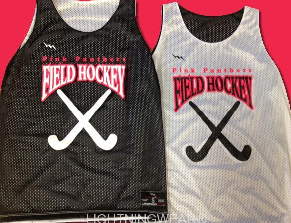 pink panthers field hockey pinnies