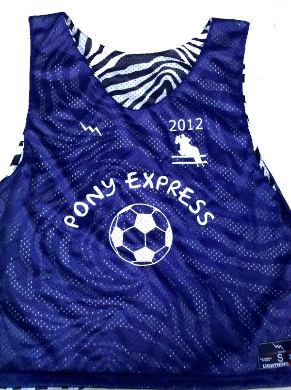 pony express soccer pinnies