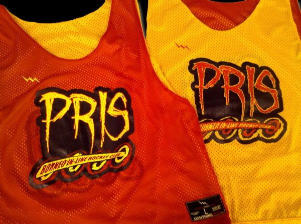 pris inline hockey pinnies