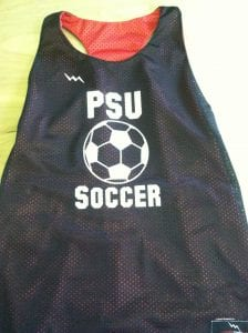 psu soccer pinnies