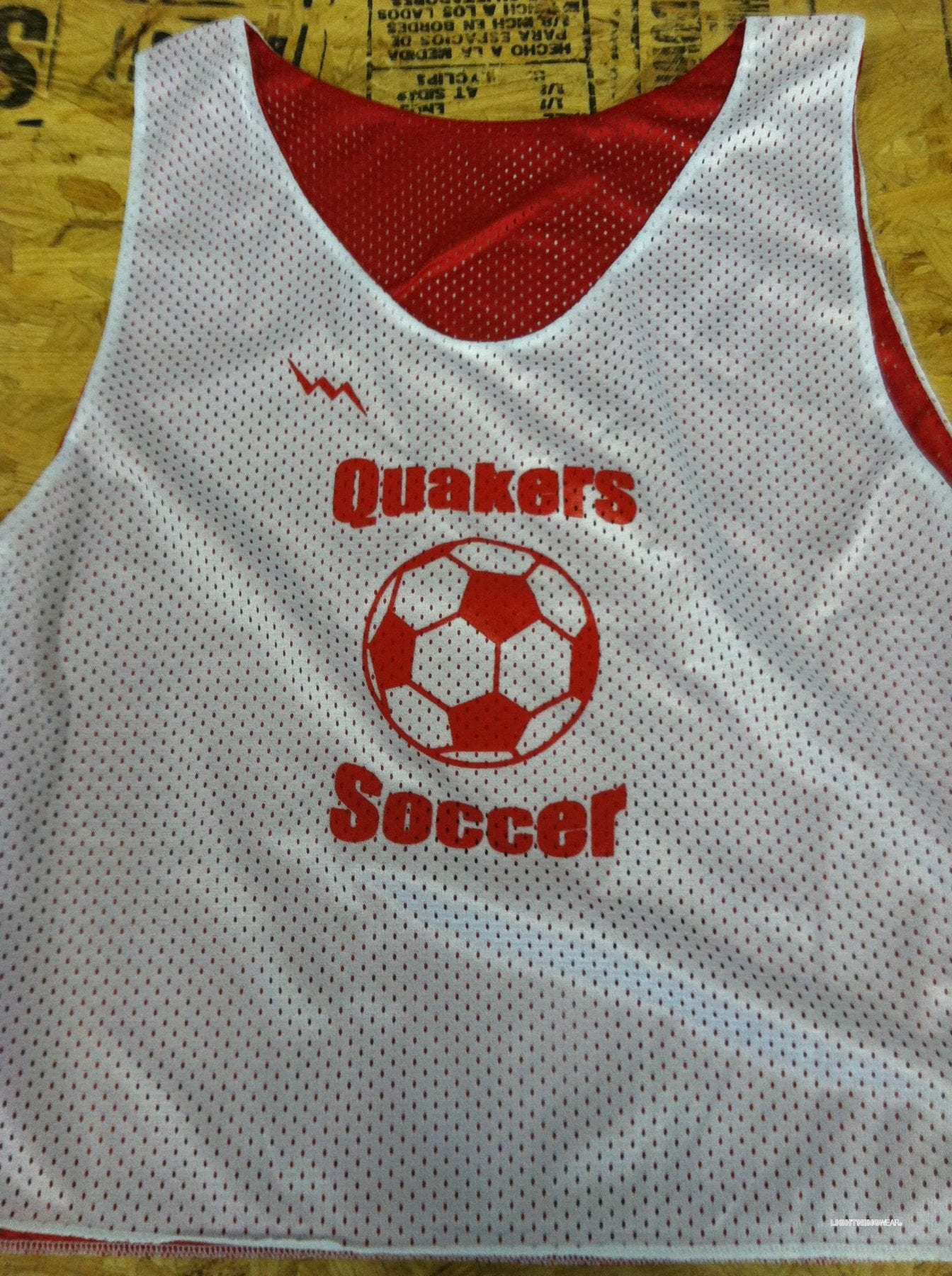 quakers soccer pinnies