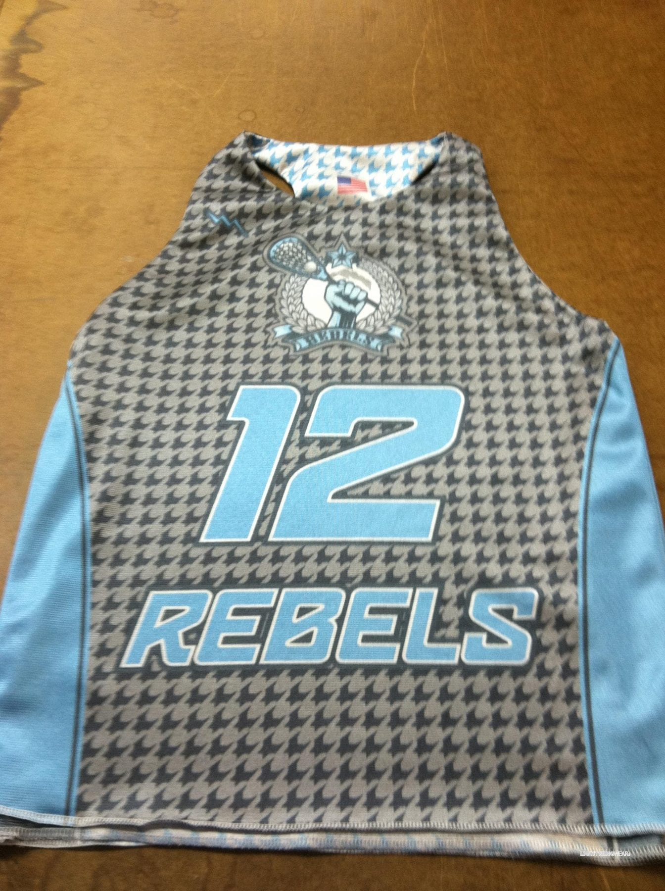 rebels lacrosse pinnies