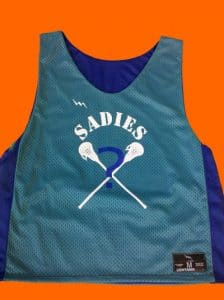 Numbered Lacrosse Pinnies