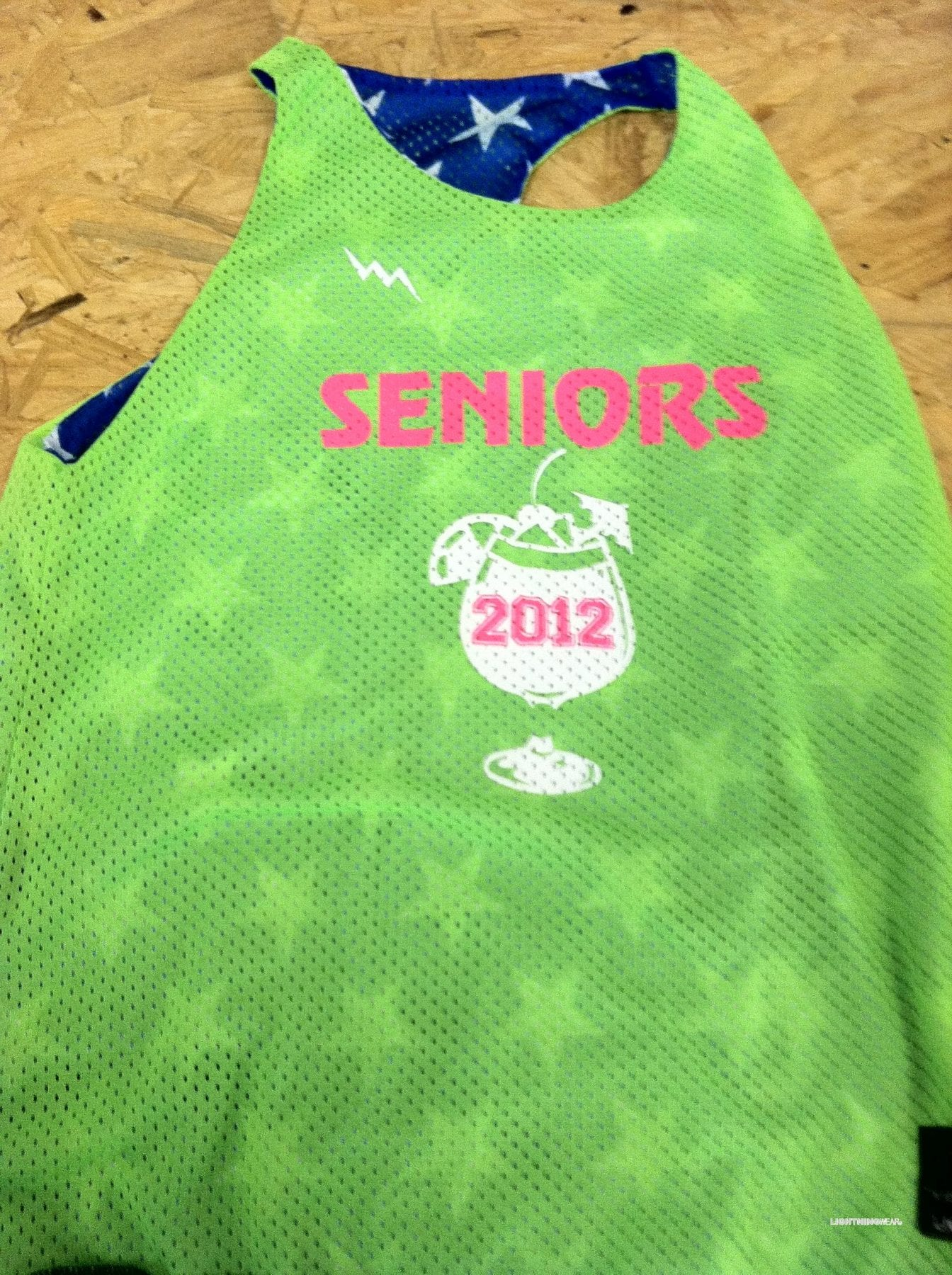 senior racerback pinnies