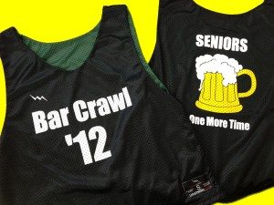 seniors bar crawl pinnies