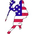 American Flag Lax Player