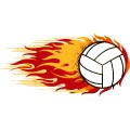 Volleyball Fire