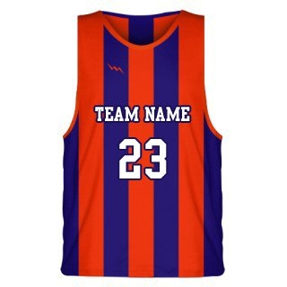 Classic Striped Basketball Jersey Design Two