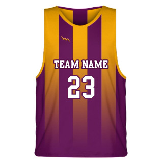 Modern Striped Sublimated Basketball Jersey