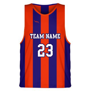 Classic Striped Sublimated Basketball Jersey