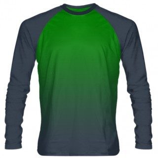 Long Sleeve Shooter Shirt With The Gradient