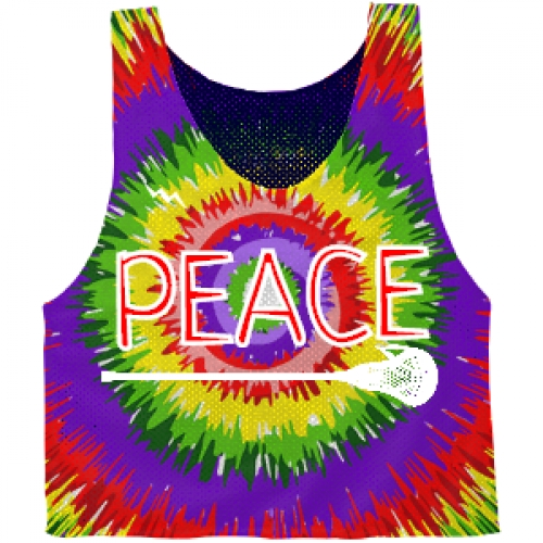 Peace+Lacrosse+Tie+Dye+Pinnies