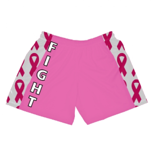 Girls+Cancer+Ribbon+Lacrosse+Shorts