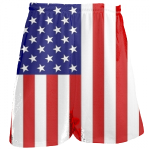 USA+Lacrosse+Shorts+|+American+Flag+Lax+Short
