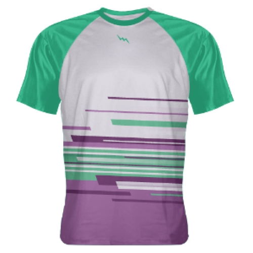 Purple+Teal+Abstract+Custom+T+Shirts
