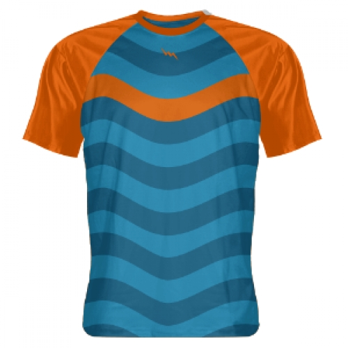 Orange+Ocean+Blue+Abstract+Sublimated+Shirts