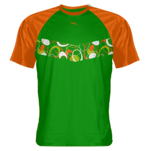 Green+Orange+Abstract+-+Kids+Lacrosse+Shirts