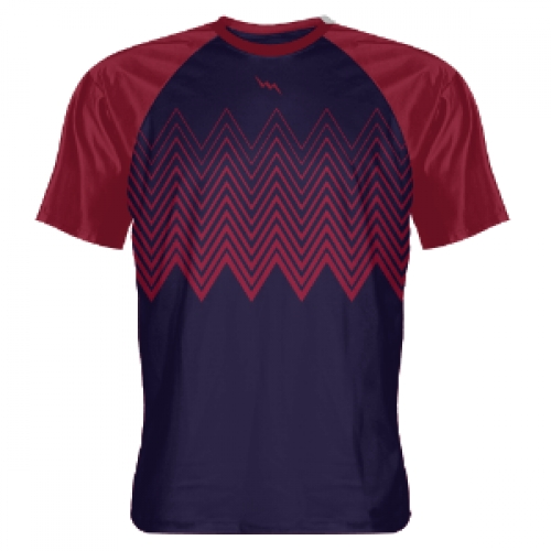 Navy+Cardinal+Red+Zig+Zag+Custom+Lacrosse+Shirts