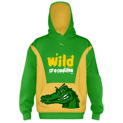 Wild+Crocodiles+Hooded+Sweatshirts+Custom