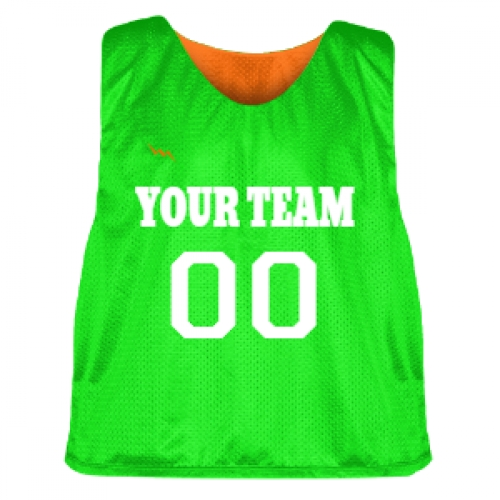 Orange+and+Neon+Green+Lacrosse+Pinnie