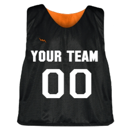 Black+and+Orange+Lacrosse+Pinnie