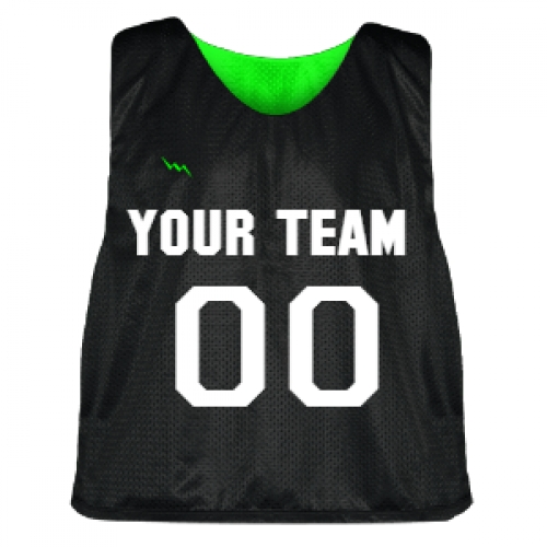 Black+and+Neon+Green+Lacrosse+Pinnie