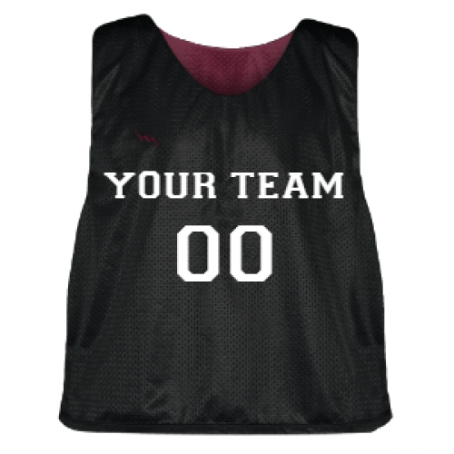 Black+and+Maroon+Lacrosse+Pinnie