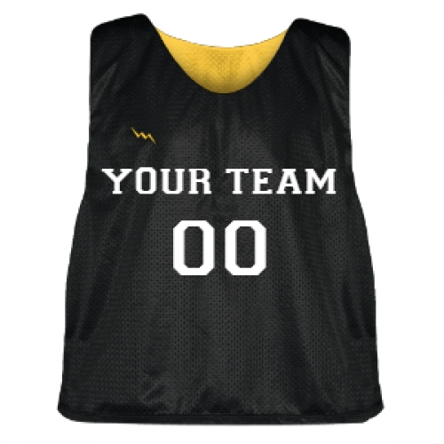 Black+and+Gold+Lacrosse+Pinnie