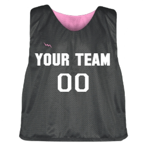 Charcoal+and+Pink+Lacrosse+Pinnie