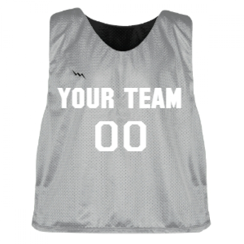 Silver+and+Black+Lacrosse+Pinnie